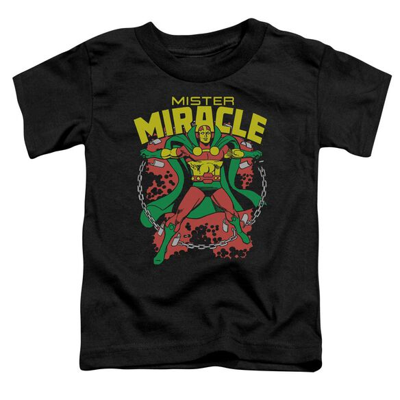 Dc Mr Miracle Short Sleeve Toddler Tee Black Md T-Shirt