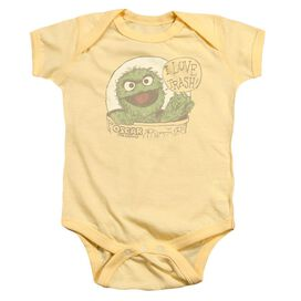 Sesame Street I Love Trash Infant Snapsuit Banana