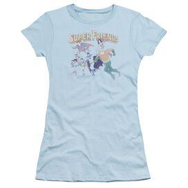 Dc Super Friends Short Sleeve Junior Sheer Light T-Shirt