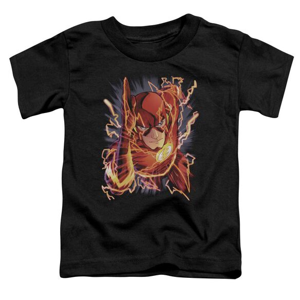 Jla Flash #1 Short Sleeve Toddler Tee Black Sm T-Shirt