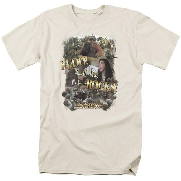 Labyrinth Call The Rocks Short Sleeve Adult Cream T-Shirt