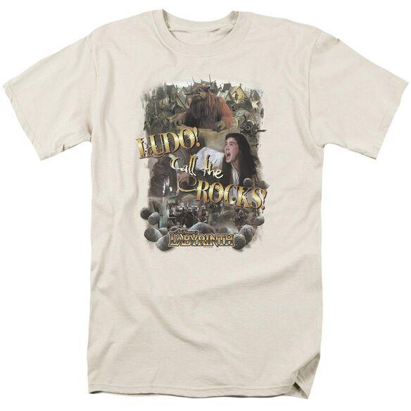 Labyrinth Call The Rocks Short Sleeve Adult Cream T-Shirt