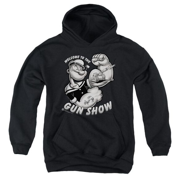 Popeye Gun Show Youth Pull Over Hoodie