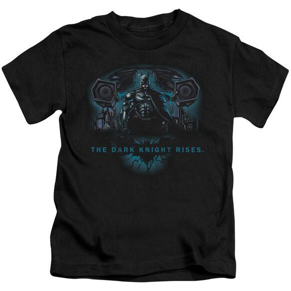 Dark Knight Rises Gothams Dark Knight Short Sleeve Juvenile Black T-Shirt