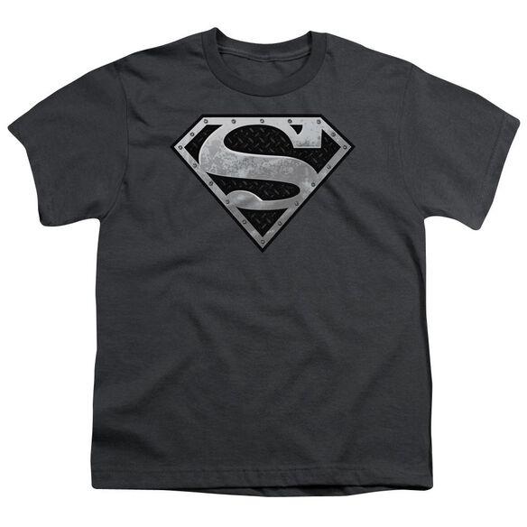 Superman Super Metallic Shield Short Sleeve Youth T-Shirt