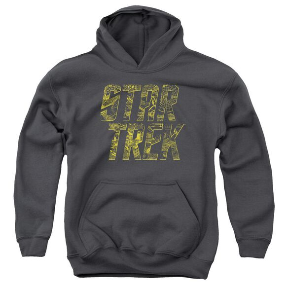Star Trek Schematic Logo Youth Pull Over Hoodie