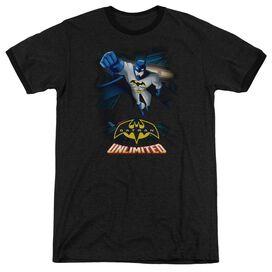 Batman Unlimited Descent Adult Heather Ringer Black