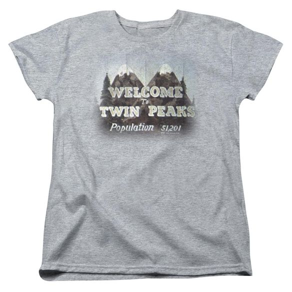 Twin Peaks Welcome To Short Sleeve Womens Tee Athletic T-Shirt