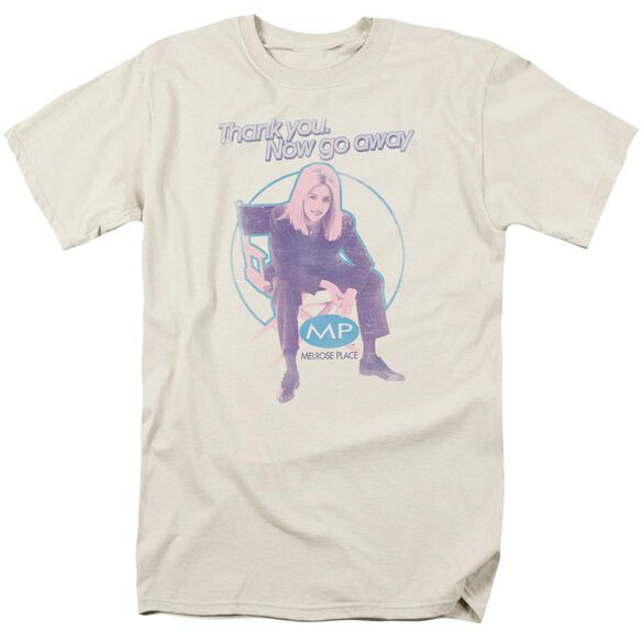 Melrose Place Love Amanda Short Sleeve Adult Cream T-Shirt