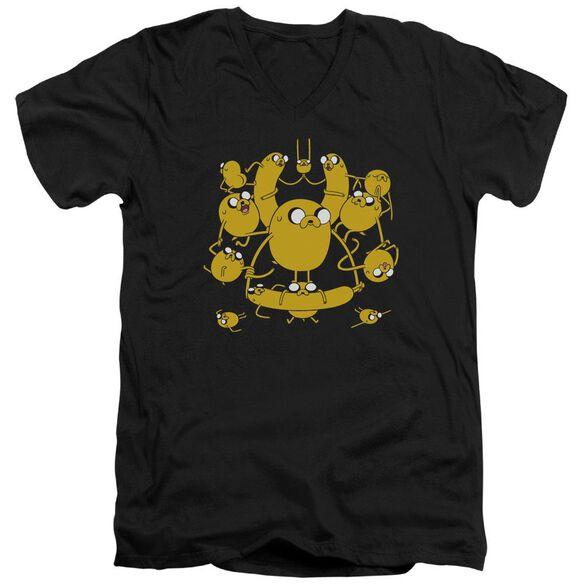 Adventure Time Jakes Short Sleeve Adult V Neck T-Shirt