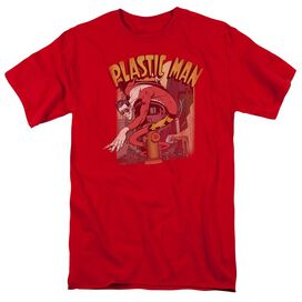 Dc Plastic Man Street Short Sleeve Adult T-Shirt