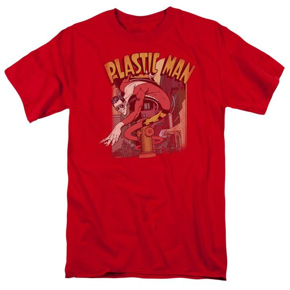 Dc Plastic Man Street Short Sleeve Adult T-Shirt