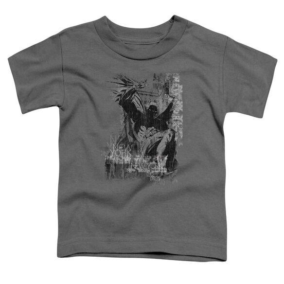 Batman The Knight Life Short Sleeve Toddler Tee Charcoal T-Shirt