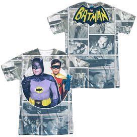 Batman Classic Tv 60 S Panels (Front Back Print) Short Sleeve Adult Poly Crew T-Shirt