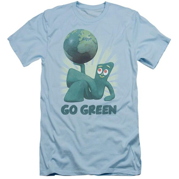 Gumby Go Green Short Sleeve Adult Light T-Shirt