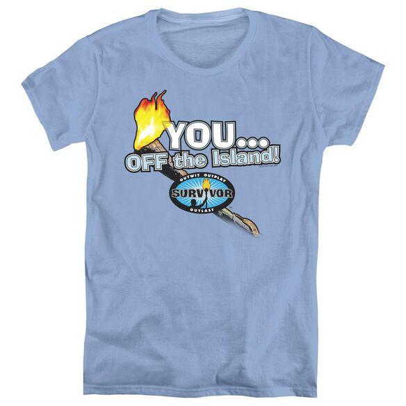 SURVIVOR YOU OFF THE ISLAND - S/S WOMENS TEE - CAROLINA BLUE T-Shirt