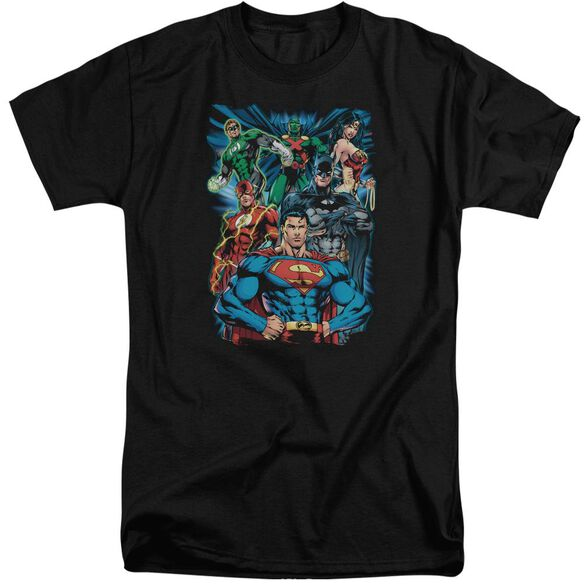 Jla Justice Is Served Short Sleeve Adult Tall T-Shirt