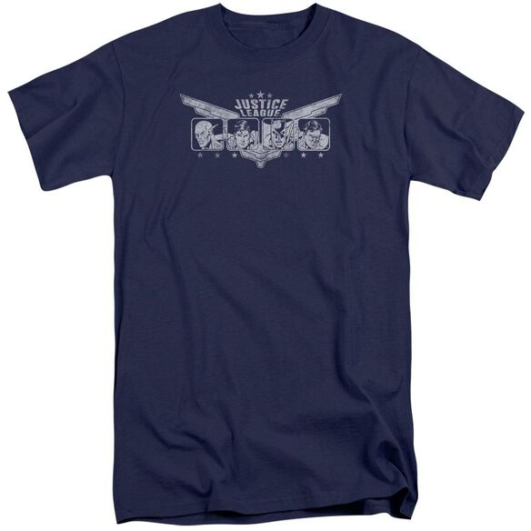 Jla Justice Wings Short Sleeve Adult Tall T-Shirt