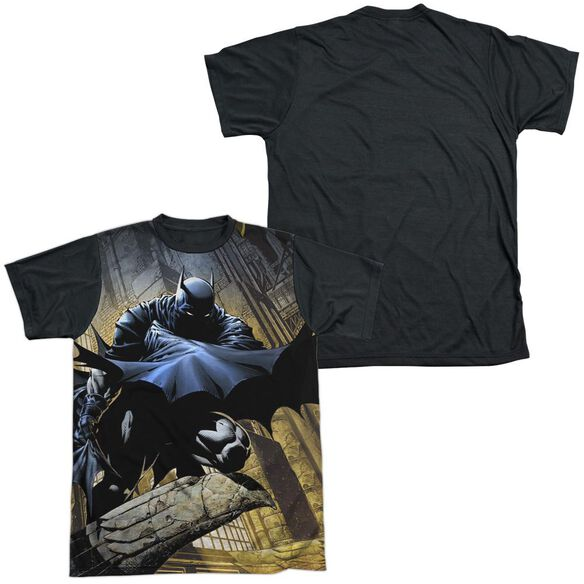 Batman In Shadow Short Sleeve Adult Front Black Back T-Shirt