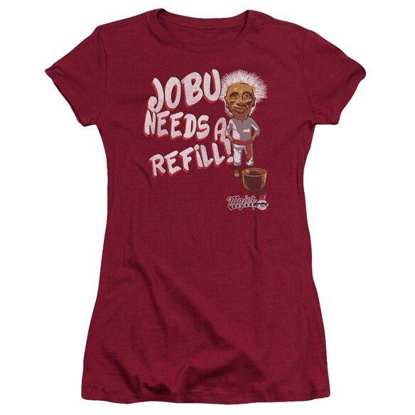 Major League Jobu Needs A Refill Short Sleeve Junior Sheer T-Shirt