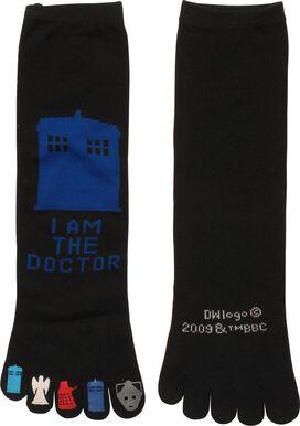 Doctor Who Am Doctor Ladies Crew Toe Socks