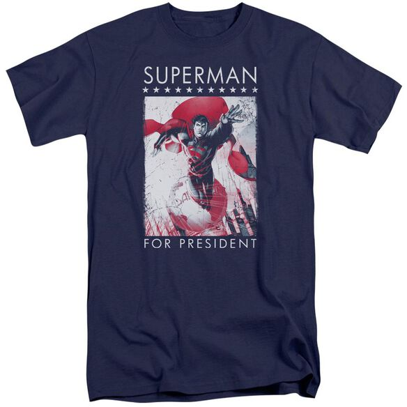 Superman Superman For President Short Sleeve Adult Tall T-Shirt