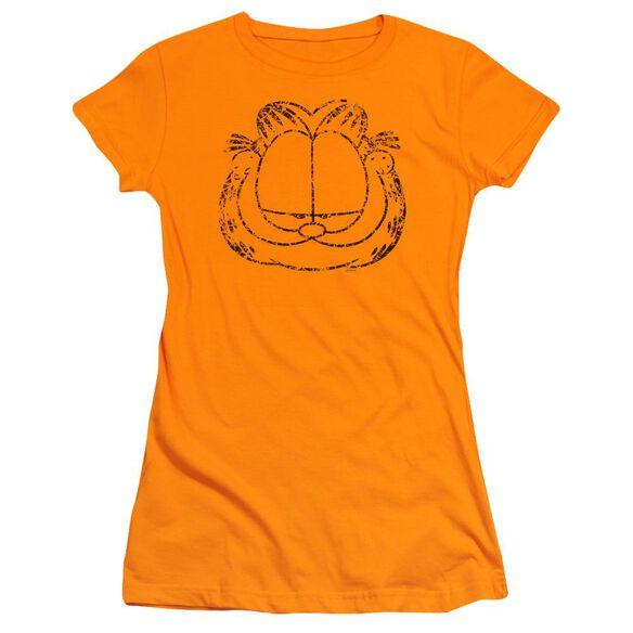 GARFIELD SMIRKING DISTRESSED-S/S T-Shirt