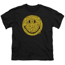 Smiley World Rosey Face Short Sleeve Youth T-Shirt
