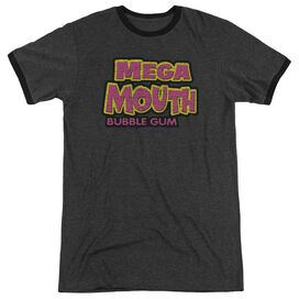 Dubble Bubble Mega Mouth Adult Heather Ringer Charcoal