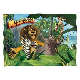 Madagascar Jungle Time Pillow Case White