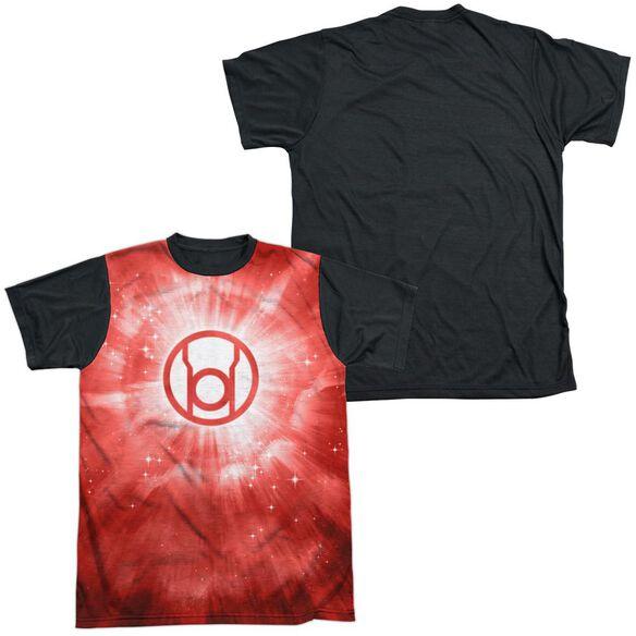 Green Lantern Red Energy Short Sleeve Adult Front Black Back T-Shirt