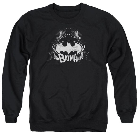 Batman Grim &Amp; Gritty Adult Crewneck Sweatshirt