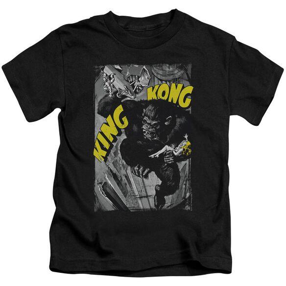 King Kong Crushing Poster Short Sleeve Juvenile T-Shirt