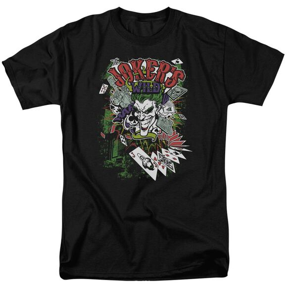 Batman Jokers Wild Short Sleeve Adult T-Shirt