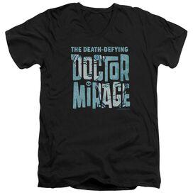 Doctor Mirage Character Logo Short Sleeve Adult V Neck T-Shirt