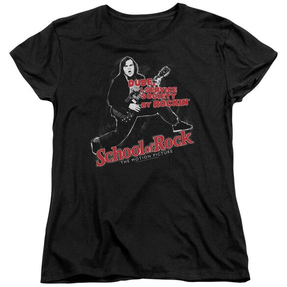 School Of Rock Rockin Short Sleeve Womens Tee T-Shirt