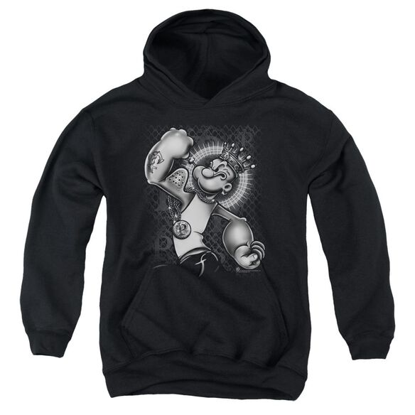 Popeye Spinach King Youth Pull Over Hoodie