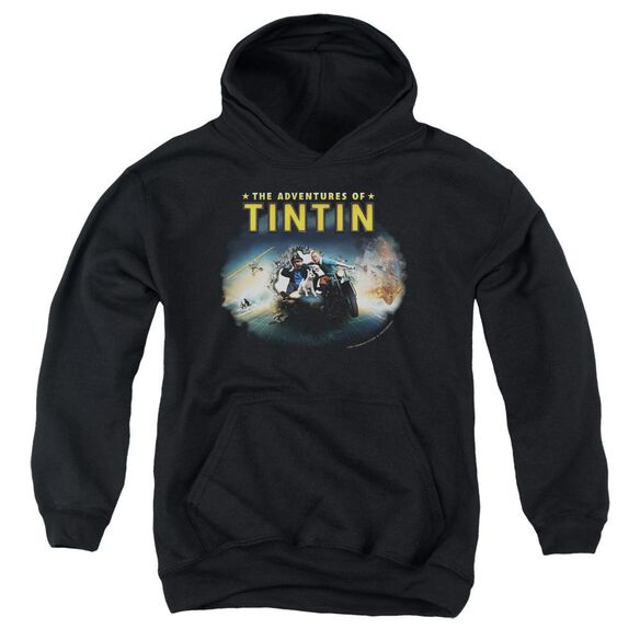 Tintin Journey Youth Pull Over Hoodie