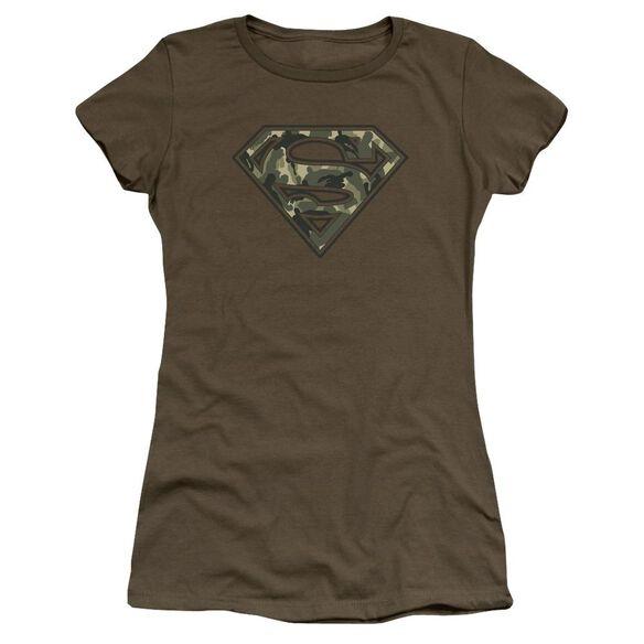 Superman Super Camo Premium Bella Junior Sheer Jersey Military