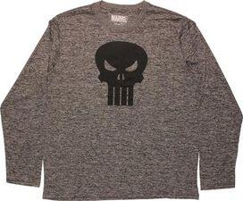 Punisher Black Skull Logo Long Sleeve T-Shirt