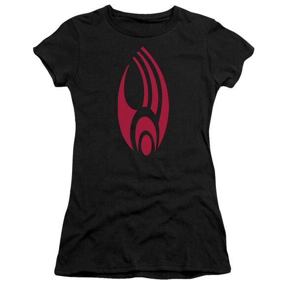Star Trek Borg Logo Short Sleeve Junior Sheer T-Shirt