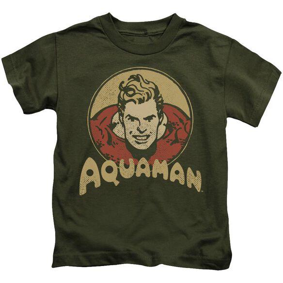 Dc Aqua Circle Short Sleeve Juvenile Military T-Shirt