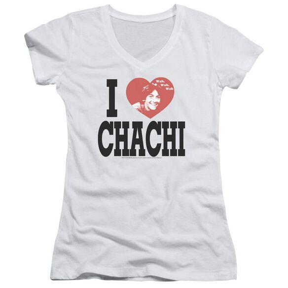 Happy Days I Heart Chachi Junior V Neck T-Shirt