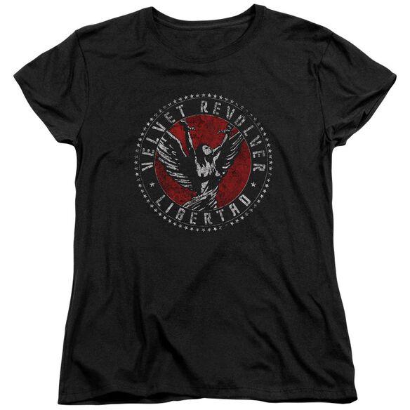 Velvet Revolver Circle Logo Short Sleeve Womens Tee T-Shirt