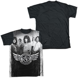 Reo Speedwagon Want A Ride Short Sleeve Adult Front Black Back T-Shirt