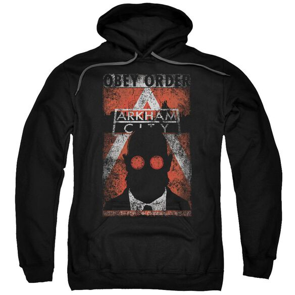 Arkham City Obey Order Poster Adult Pull Over Hoodie