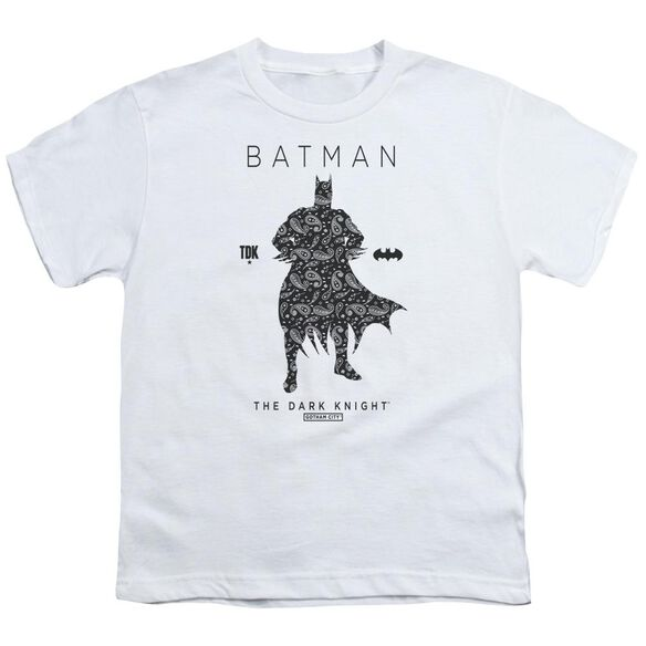 Batman Paislety Silhouette Short Sleeve Youth T-Shirt