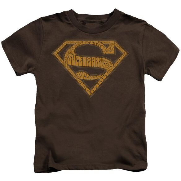 Superman 60 S Type Shield Short Sleeve Juvenile T-Shirt