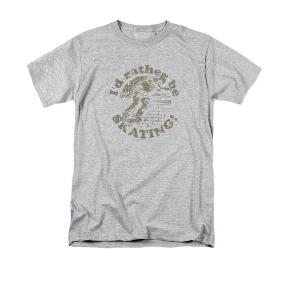 ID RATHER BE SKATING- ADULT 18/1 - ATHLETIC HEATHER T-Shirt