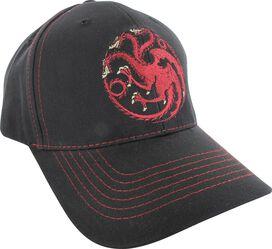 Game of Thrones Targaryen Sigil Red Stitch Hat